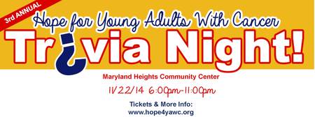 3rd Annual Hope For Young Adults With Cancer Trivia...