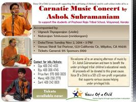 Fund raiser Carnatic concert for Voice of a child by As...