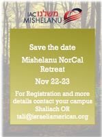 NorCal Mishelanu overnight retreat Nov 22-23