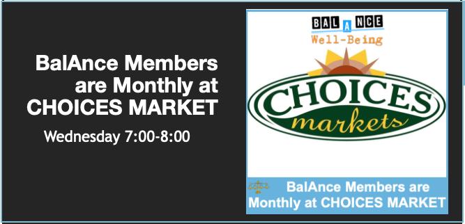 BalAnce Members LIVE ON-LINE (CHOICES MARKET)