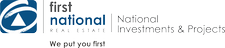 First National Real Estate National Investments & Projects logo
