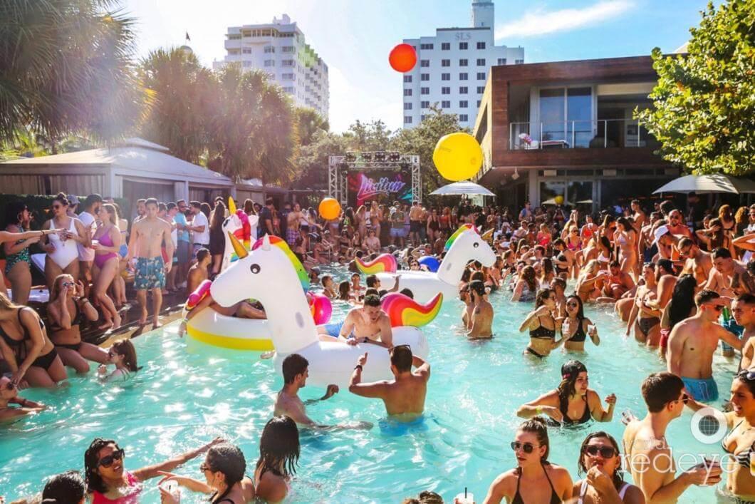 Sls South Beach Pool Party Miami