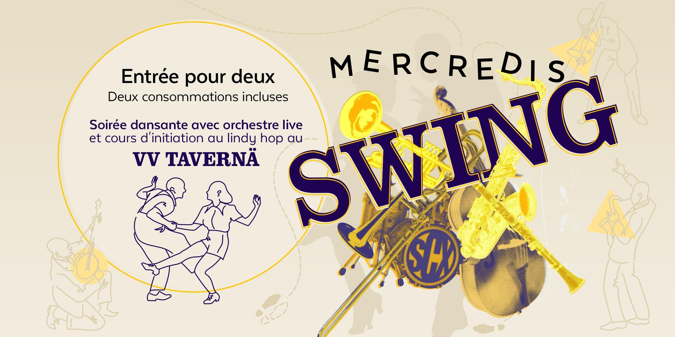 Mercredis swing - Soirée dansante - Band live et cours d'initiation pour 2