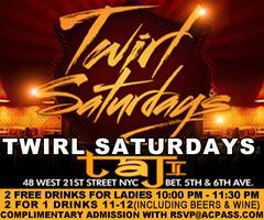 Twirl Saturdays. FREE Admission, Drinks & more on Cris...