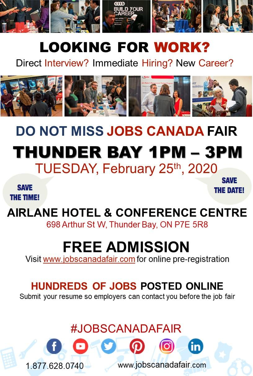 Thunder Bay Job Fair - February 25th, 2020