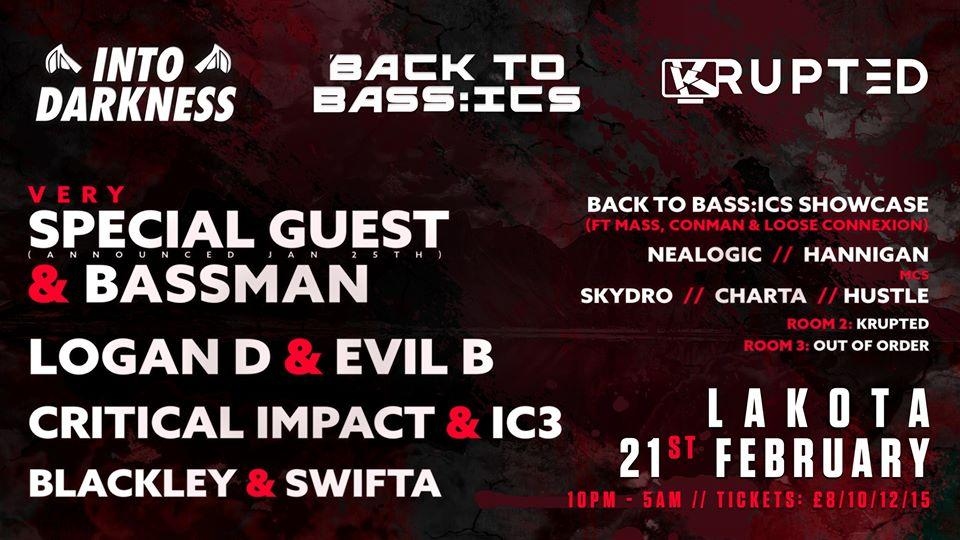 Into Darkness x Back To Bass:ics x Krupted