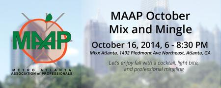 October Mix and Mingle at Mixx Atlanta