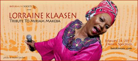 LORRAINE KLAASEN: A Tribute To Miriam Makeba