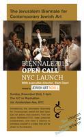 NYC LAUNCH JERUSALEM BIENNALE 2015 OPEN CALL
