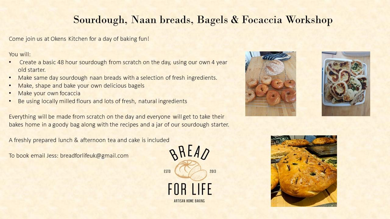 Postponed*****Sourdough bread with Naan, Bagels, & Focaccia