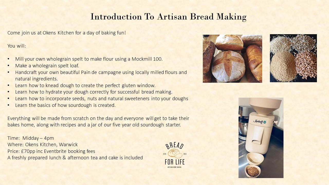 Postponed*******Introduction to artisan bread making