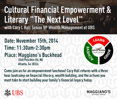 November Monthly Meeting: Cultural Financial Literacy