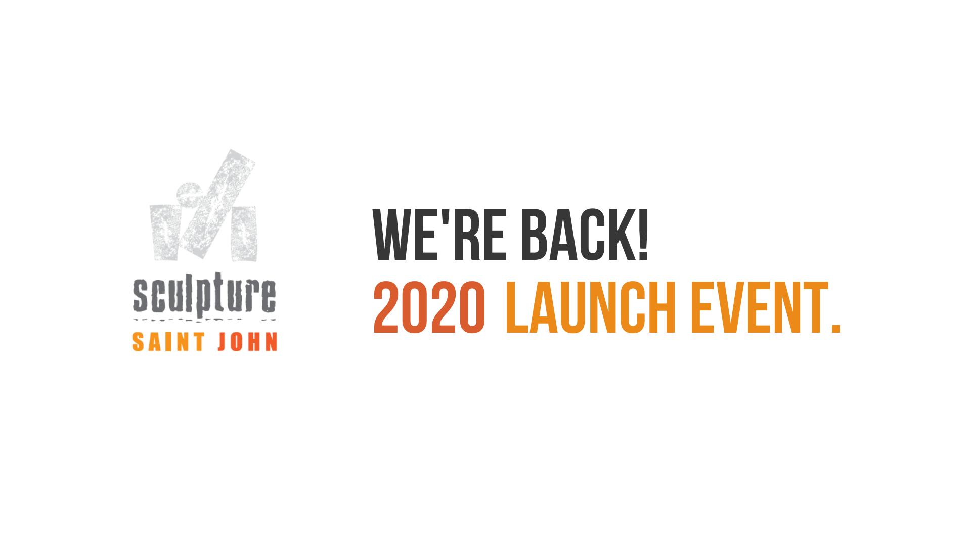 Sculpture Saint John 2020 Launch