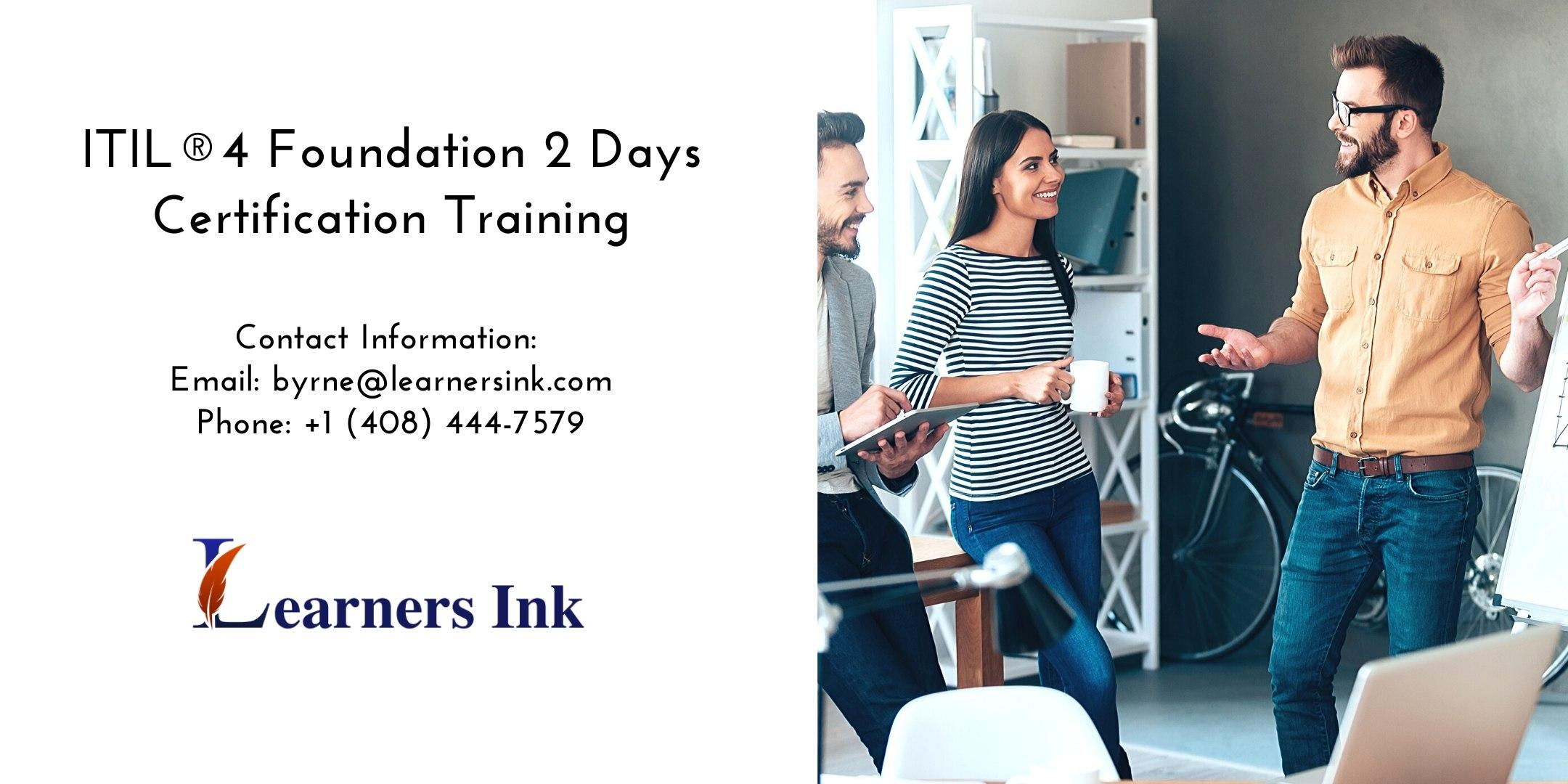 ITIL®4 Foundation 2 Days Certification Training in Colorado Spring