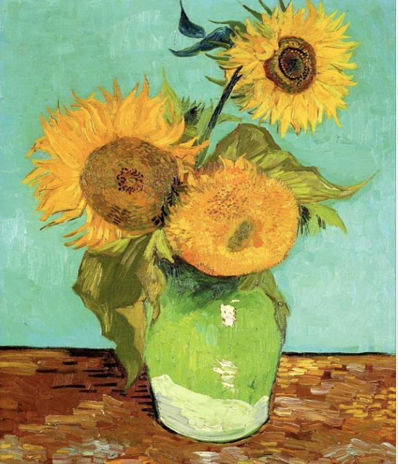 Sunflowers by Van Gogh - Social Art Class