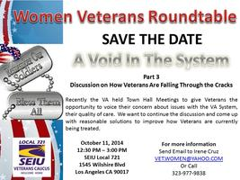 Women Veterans Roundtable - A Void in the System