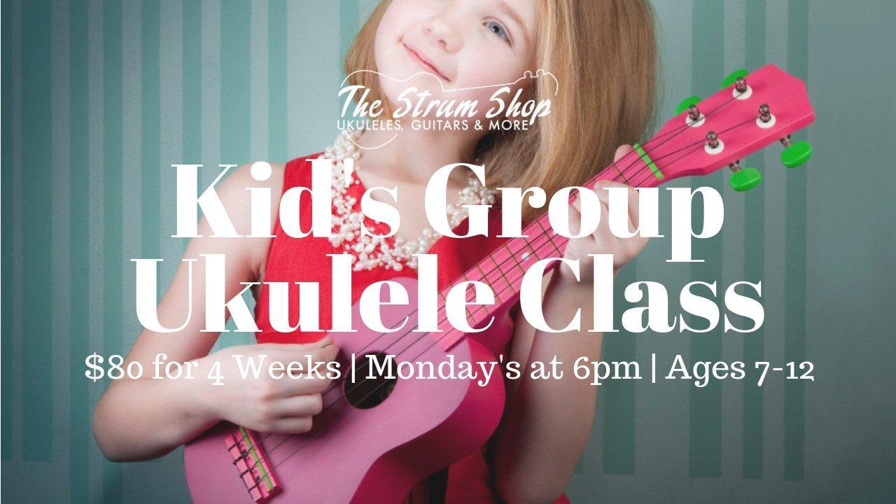 Kid's Beginning Ukulele Monthly Group Class