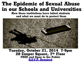 The Epidemic of Sexual Abuse in our Schools and Univers...