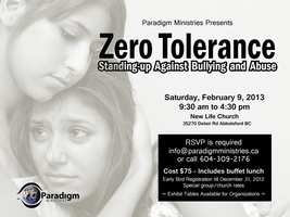 Zero Tolerance: Standing-up Against Bullying & Abuse