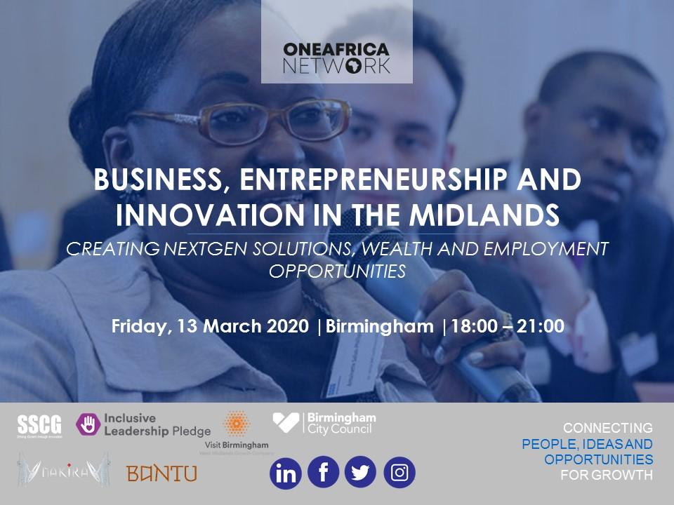 Business, Entrepreneurship & Innovation in the Midlands