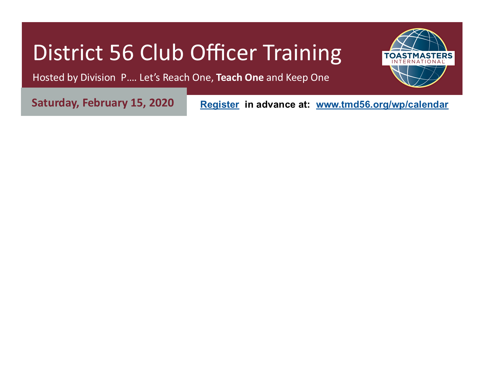 Division P  Club Officer Training  - UH Clear Lake   (9am-1:00pm)