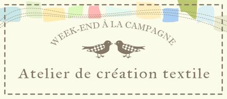 Atelier de création textile Week-end à la campagne