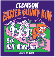 5th Annual Clemson Easter Bunny Run 5k and Half Marathon