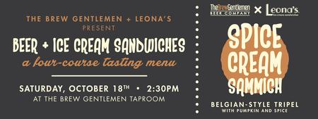 Beer & Ice Cream Sandwiches with The Brew Gentlemen &...