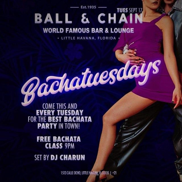 SUSPENDED Bahatuesdays at Ball and Chain Featuring DJ Charun
