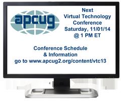 APCUG's 2014 Fall Virtual Technology Conference