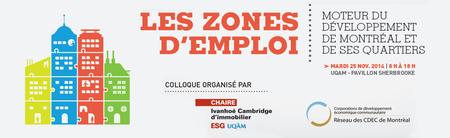 Colloque - Les zones d'emploi : moteur du...