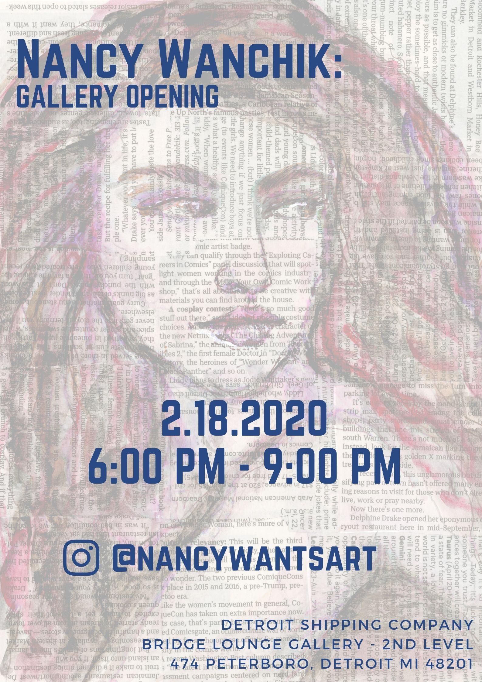 Bridge Gallery Opening: Nancy Wanchik
