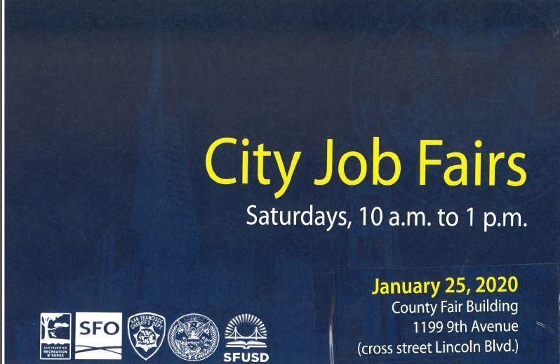 San Francisco City Job Fair Saturday January 25 10 am