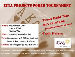 Etta Projects Poker Tournament