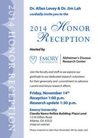 Emory ADRC 2014 Honor Reception
