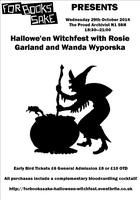 Hallowe'en Witchfest with Rosie Garland and Wanda...