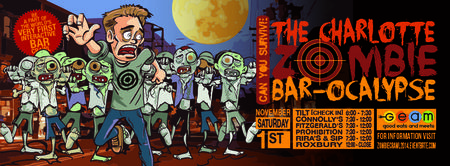THE CHARLOTTE ZOMBIE BAR-OCALYPSE...The World's 1st...