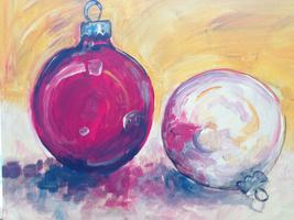 Christmas Ornaments Tipsy Muse painting class