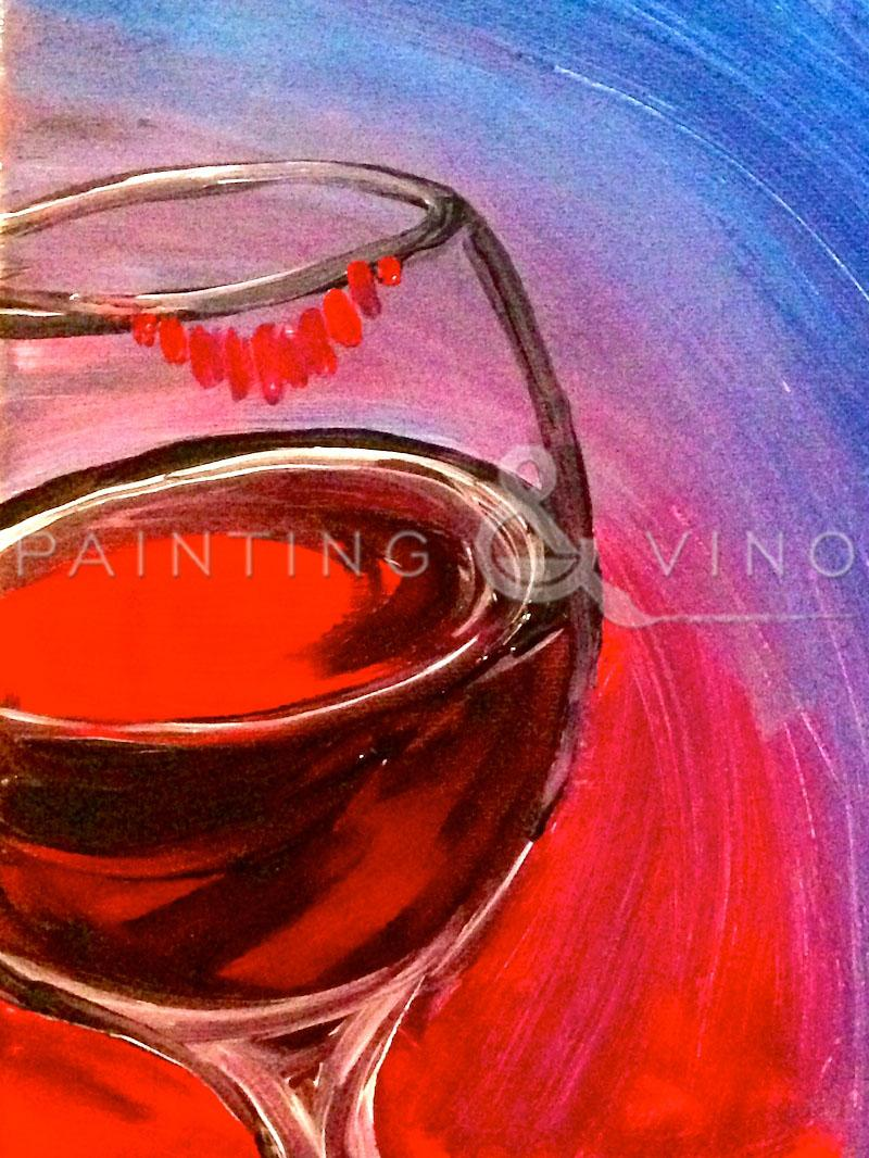 The Best Paint and Sip 'Wine Lips'