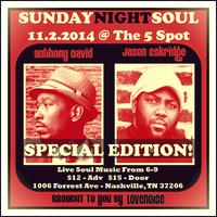 Sunday Night Soul with Special Guest Anthony David