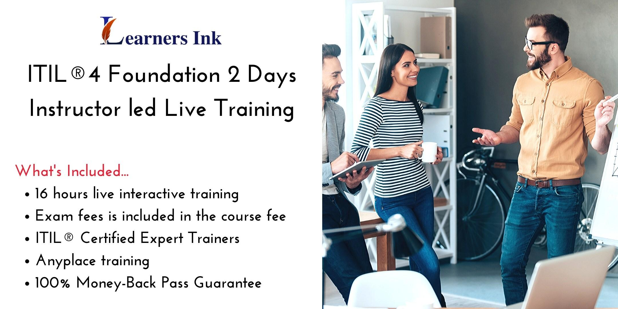 ITIL®4 Foundation 2 Days Certification Training in Regina