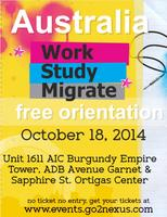 FREE orientation on WORK & STUDY program in AUSTRALIA,...