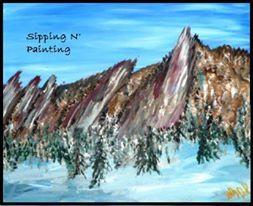 Paint Wine Denver Flatirons Mon Feb 24th 6:30pm $30