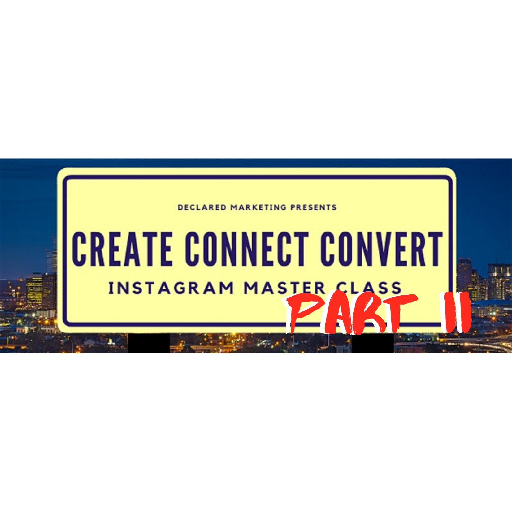 Connect Convert Instagram Masterclass