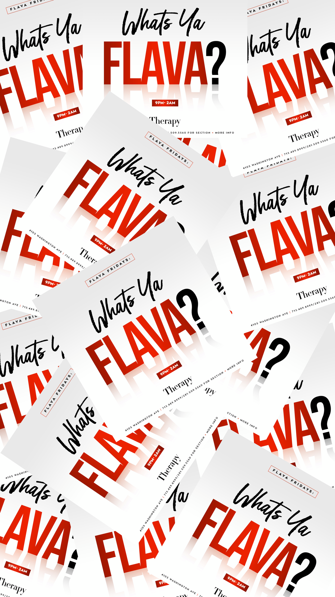 FLAVA FRIDAYS [THERAPY]