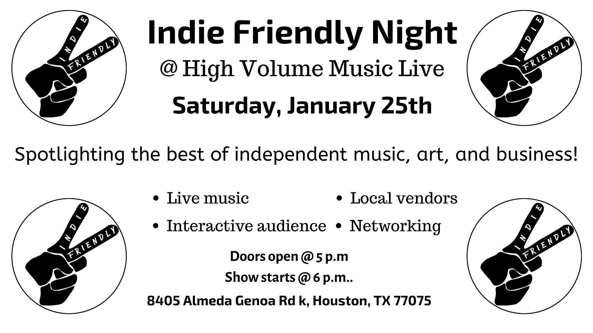 Indie Friendly Night feat. Nikiajnae
