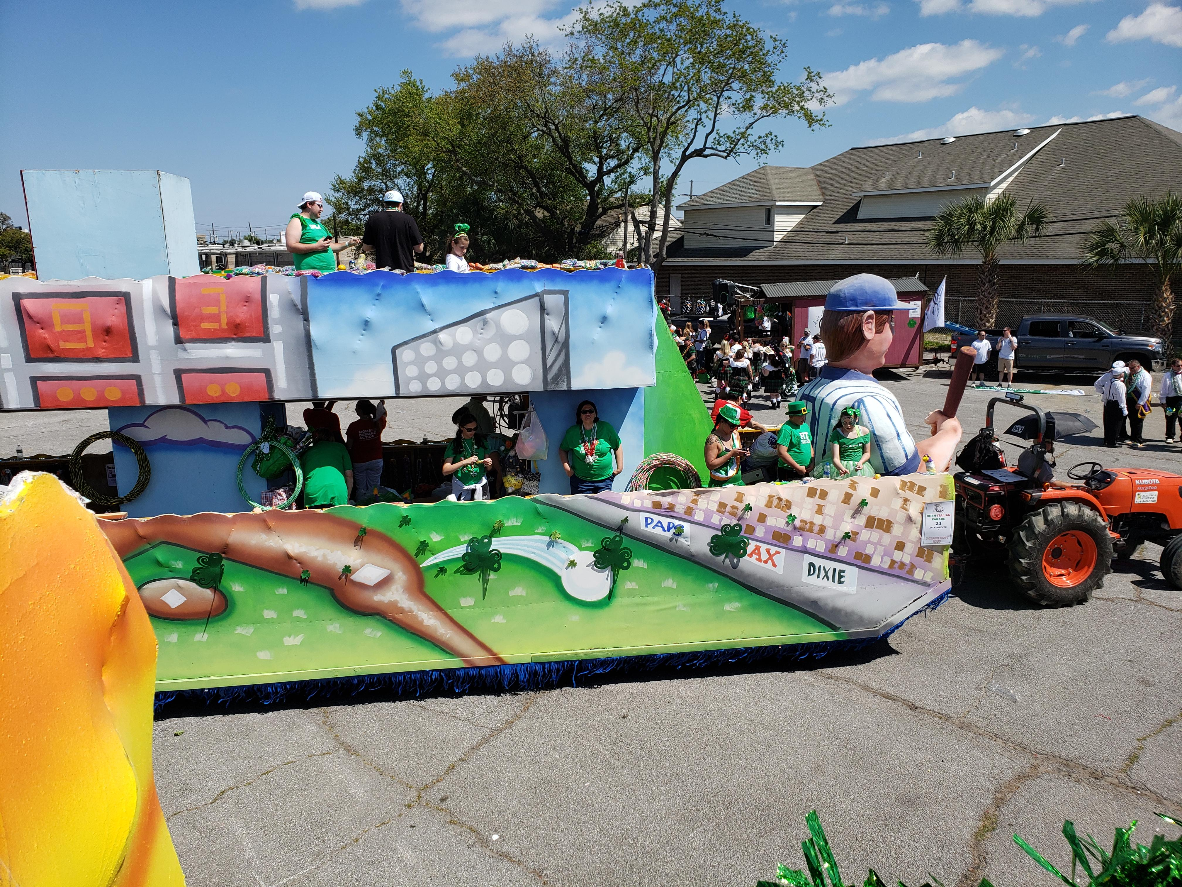 RIDE A FLOAT IN THE 2020 METARIE RD. ST.PATS OR IRISH - ITALIAN PARADE RIDE