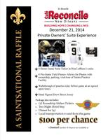 SAINTS PRIVATE OWNER'S SUITE EXPERIENCE RAFFLE