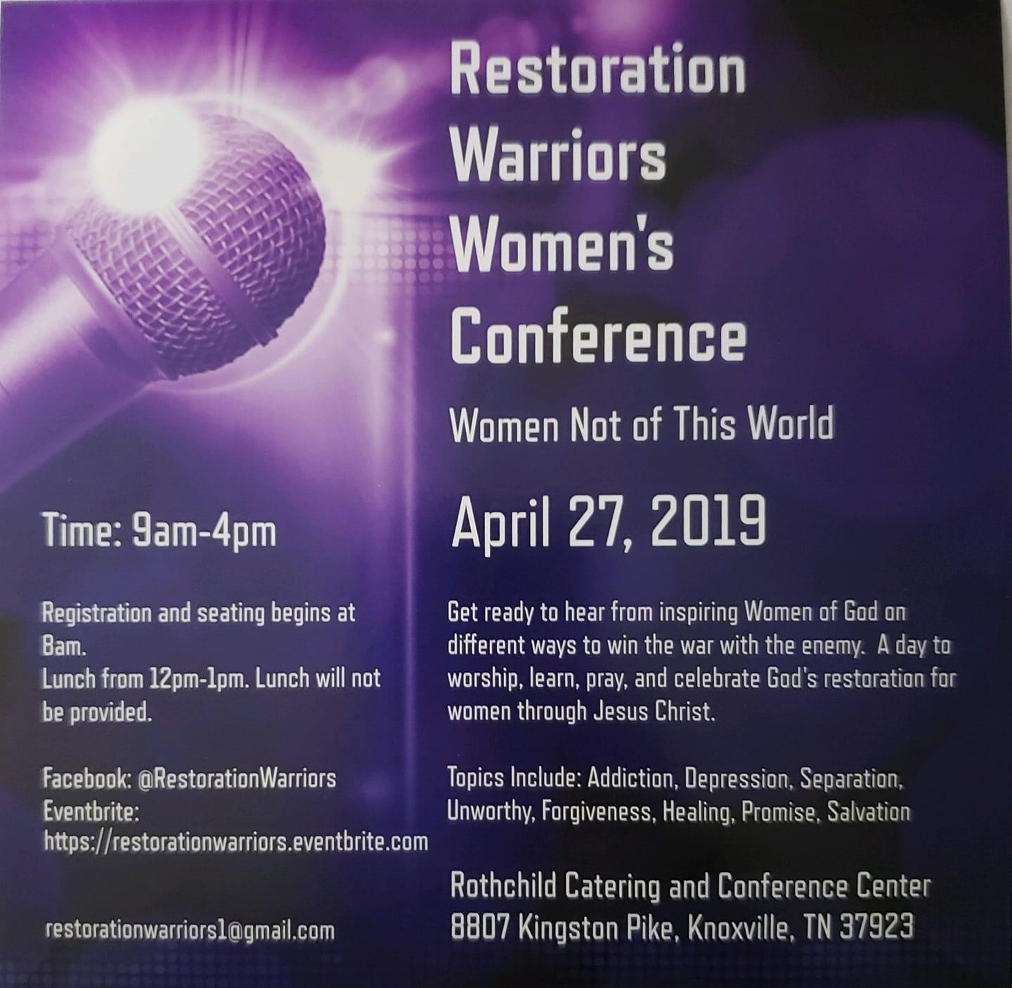 Restoration Warriors Women's Conference