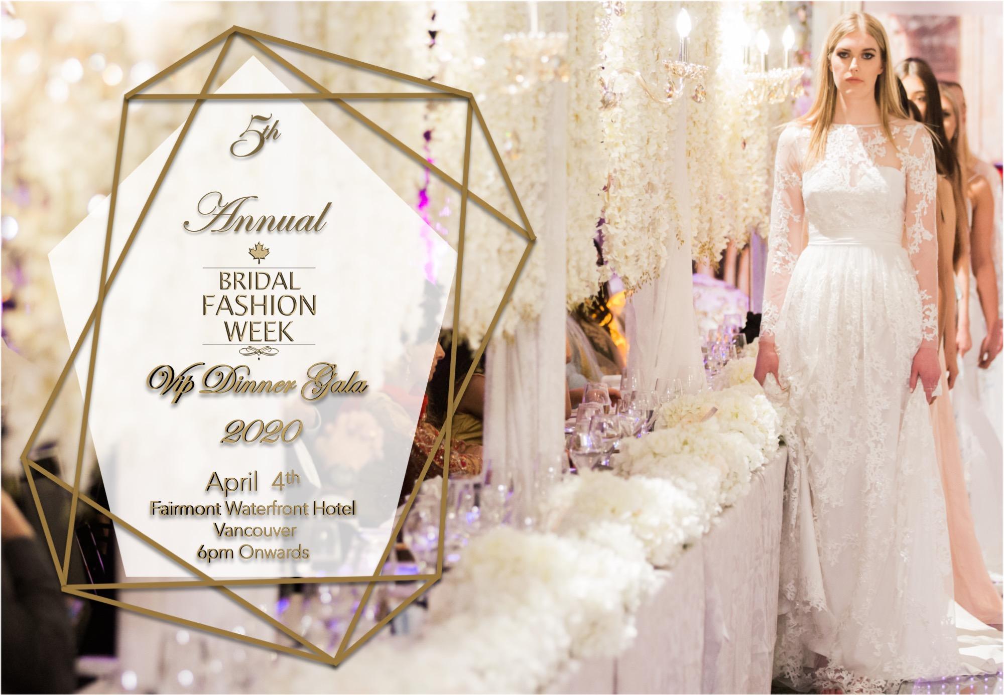 BRIDAL FASHION WEEK 2020 VIP DINNER GALA